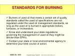 standards for burning2