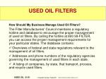 used oil filters