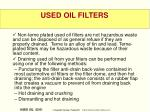 used oil filters1