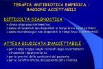 terapia antibiotica empirica ragioni accettabili