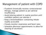 management of patient with copd1
