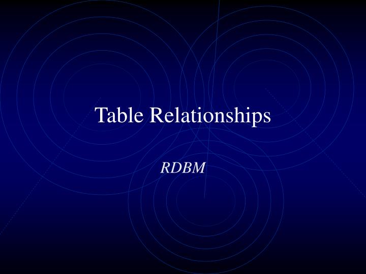 table relationships n.