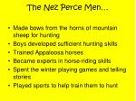 the nez perce men