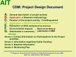 cdm project design document