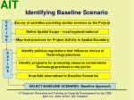 identifying baseline scenario