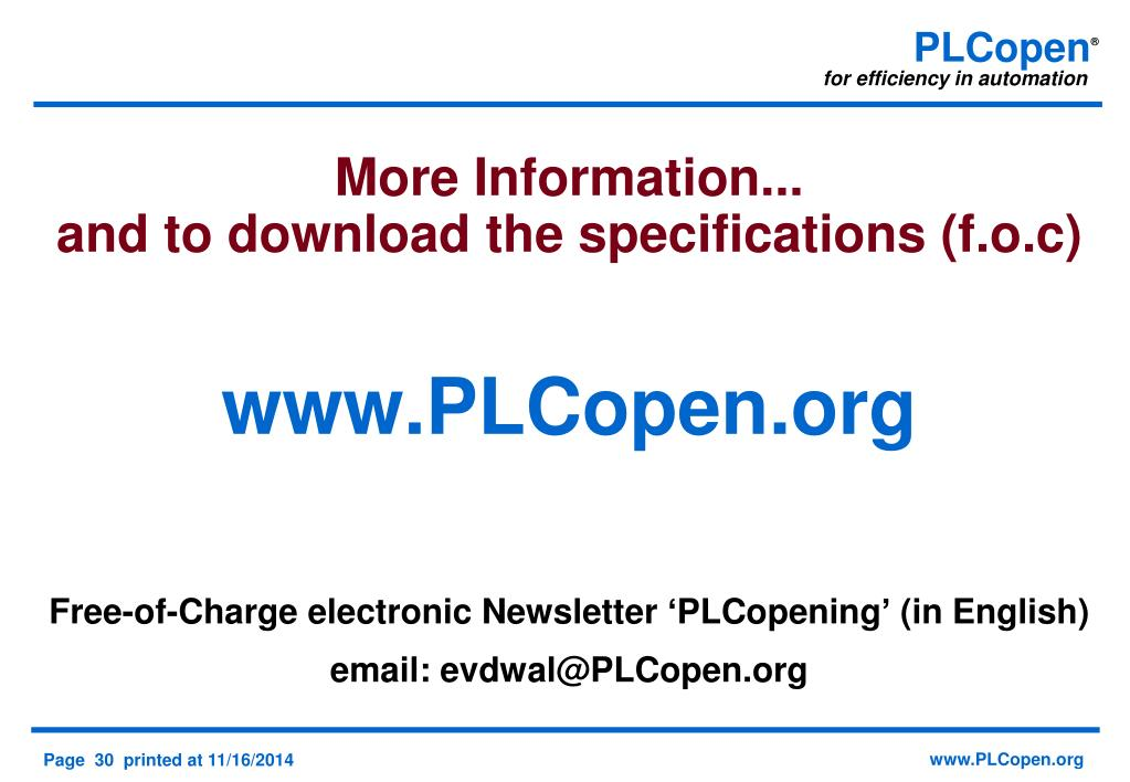 PPT - PLCopen and OPC UA a perfect match PowerPoint Presentation