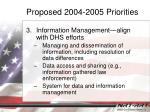 proposed 2004 2005 priorities2