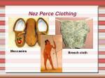 nez perce clothing