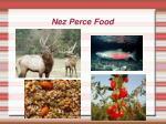 nez perce food