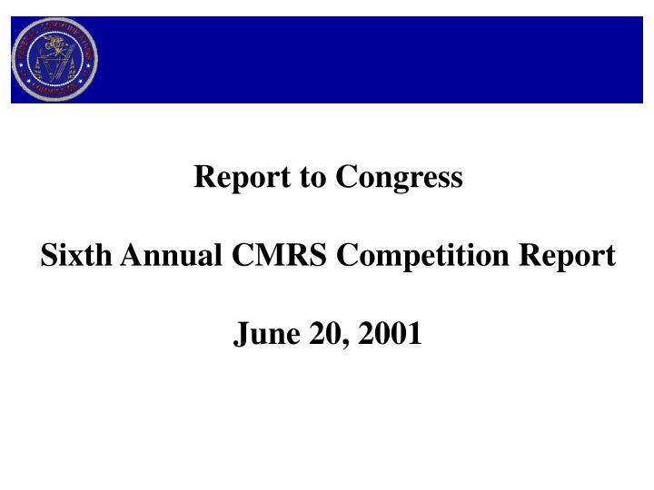 Report to Congress