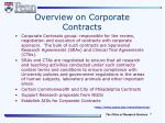 overview on corporate contracts