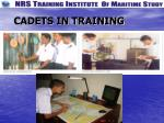 cadets in training