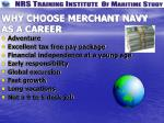 why choose merchant navy as a career