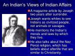 an indian s views of indian affairs