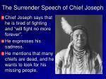 the surrender speech of chief joseph