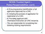 noaa trusted agent roles responsibilities cont
