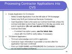 processing contractor applications into cvs
