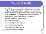 ta homepage