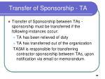 transfer of sponsorship ta