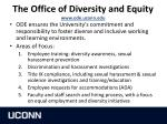 the office of diversity and equity www ode uconn edu