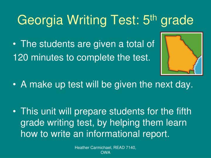 Georgia writing test 5 th grade1