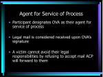 agent for service of process
