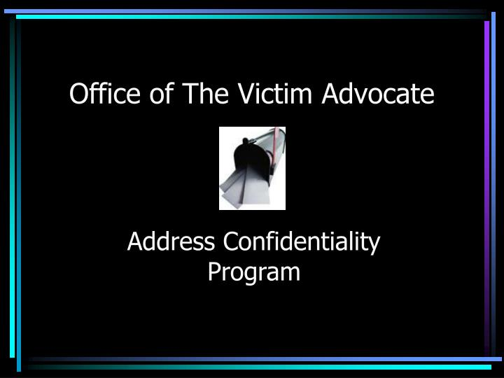 office of the victim advocate n.