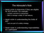 the advocate s role
