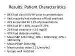 results patient characteristics