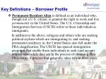 key definitions borrower profile1