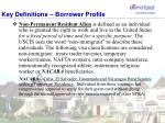 key definitions borrower profile2