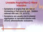 unstable angina non q wave infarction