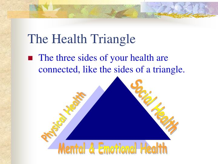 three sides of the health triangle