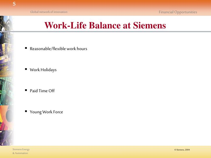 Work-Life Balance at Siemens
