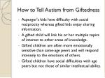 how to tell autism from giftedness