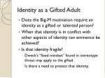 identity as a gifted adult