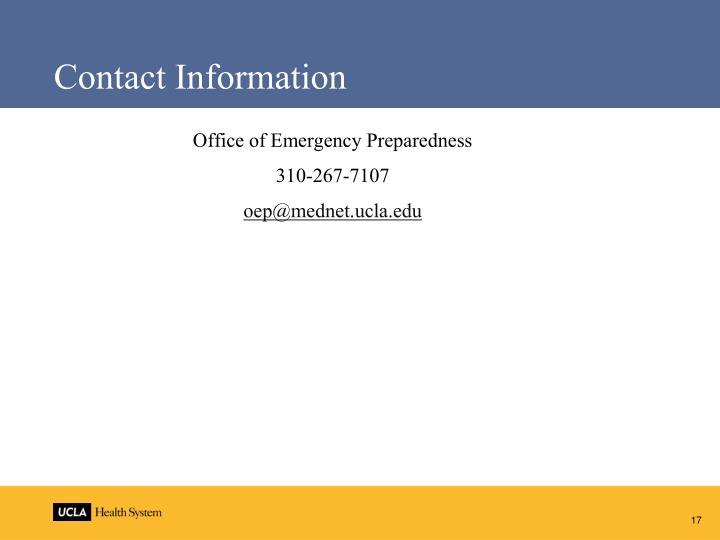 Office of Emergency Preparedness