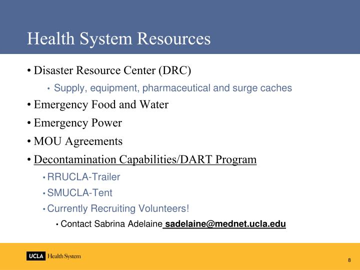 Health System Resources