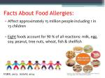facts about food allergies