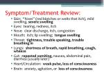 symptom treatment review