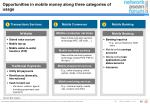 opportunities in mobile money along three categories of usage