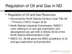 regulation of oil and gas in nd