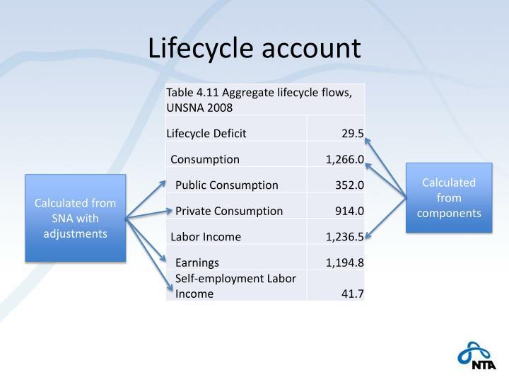 Lifecycle account