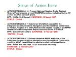 status of action items3