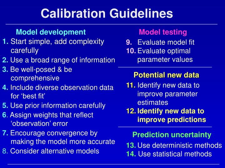 Calibration Guidelines