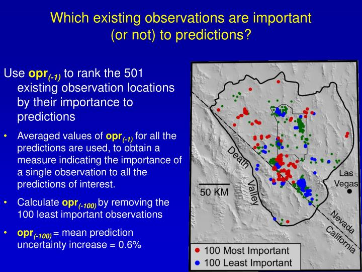 Which existing observations are important