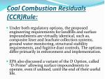 coal combustion residuals ccr rule1