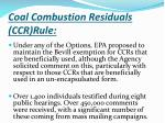 coal combustion residuals ccr rule2