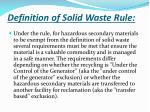 definition of solid waste rule3