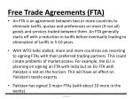 free trade agreements fta